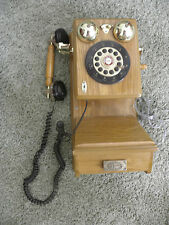 SPIRIT OF ST LOUIS Reproduction oak wall phone Works Great!
