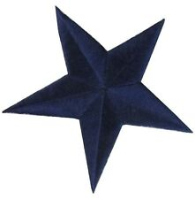 "3"" Dark Bule Star Embroidery Iron On Applique Patch"