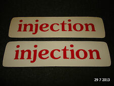 2 AUTHENTIC INJECTION RED STICKERS #1 / DECALS / AUFKLEBER