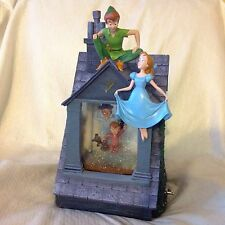 RARE Disney's Peter Pan STORY TIME Musical Blower Lite Up SnowGlobe-MIB