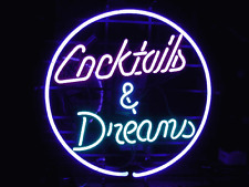 "New Cocktails And Dreams Palm Tree Beer Pub Bar Neon Light Sign 20""x16"" Q58M"
