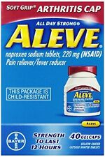 2 Pack - Aleve Arthritis Soft Grip Arthritis Cap, 40 Gelcaps Each