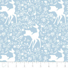 Camelot Disney Bambi Silhouette in Blue 100% cotton fabric by the yard