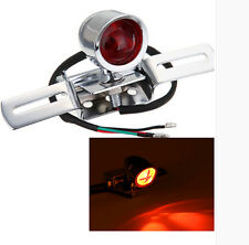 Silver Motorcycle Rear Brake Stop Tail Light Lamp For Harley Bobber Cafe Racer