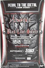 MUDVAYNE / BLACK LABEL SOCIETY / STATIC X 2009 SAN DIEGO CONCERT TOUR POSTER