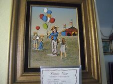 H. Hargrove Oil Painting on Canvas CIRCUS CLOWN WITH KIDS W/COA  Signed