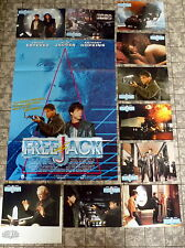 FREEJACK * MICK JAGGER - 10 AHF`s + A1-FILMPOSTER - Ger LC-SET 1992 SCI-FI