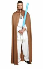 MENS STAR WARS JEDI KNIGHT ROBE HOODED BROWN CAPE OBI ONE HALLOWEEN OUTFIT SITH