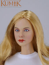 "1/6 Scale Female Head Sculpt KUMIK 16-34 For 12"" Hot Sideshow Toys TTL HT Body"