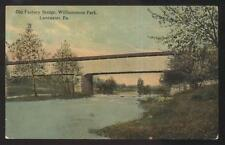 Postcard LANCASTER Pennsylvania/PA  Old Factory Park Covered Bridge view 1907