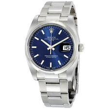 Rolex Date Blue Index Dial Mens Watch 115200BLSO