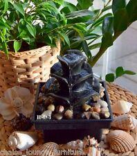Zen Fuente De Agua Interior Pizarra Feng Shui Relax Mesa Decoración Hogar