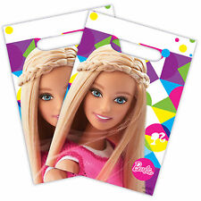 8 Pink Barbie Sparkle Children's Birthday Party Plastic Favour Gift Loot Bags