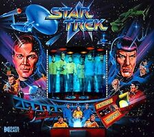 Data East STAR TREK Flipper Cabinet Leggero Mod Blu Pinky-Viola