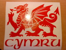 11in wales welsh dragon cymru vinyl car sticker door wall art graphics decals