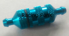 RC Nitro Car Buggy Fuel Filter 1/8 1/10 fits 5mm Fuel Line Pipe Alloy BLUE LONG