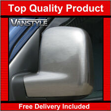 VW CADDY MAXI 2004-15 BRUSHED SILVER WING MIRROR COVERS TRIM (NOT CHROME) EFFECT
