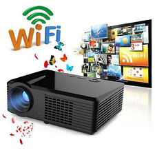 5000Lumen Android 4.4 HD 1080P LED LCD TV Home Theater Projector 3D Wifi HDMI IT