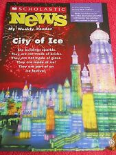 SCHOLASTIC NEWS WEEKLY READER JANUARY 2014 CITY OF ICE IN CHINA GRADE 1