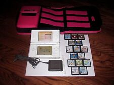 NINTENDO DS LITE USG 001 Handheld System+Bundle case ]15 Game Cards] see notes