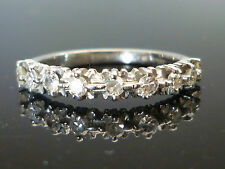 Stunning 18ct White gold 9 diamond half eternity 0.36ct diamond ring Fe8