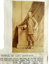 1865 Albumen Photograph - LORD RANELAGH - South Middlesex Rifle Volunteers