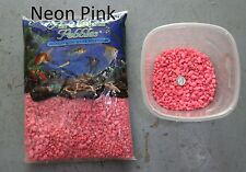 Neon Pink - 5 lbs Aquarium Fish Tank Gravel, Pure Water Pebbles color rocks