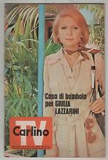 il resto del CARLINO TV 1971 inserto del n.224 con guida ai programmi guccini