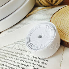 5M Flat Woven Elastic Band Ribbon Stretch Tape Trim Sewing Craft White 20mm