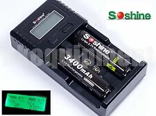 Soshine SC-H2 V2 LCD Battery Charger+2x 3400 mAh Rechargeable NCR18650B 12v Car