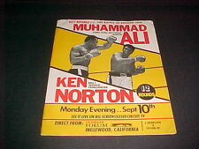 1973 MUHAMMAD ALI VS KEN NORTON PRESS KIT