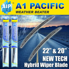 "Hybrid Windshield Wiper Blades silicone Bracketless J-HOOK OEM QUALITY 22"" & 20"""