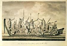 Captain Cook Royal Navy New Zealand Maori War Canoe 1770, 7x5 Inch Print New nbl
