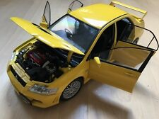 Autoart 1:18 Mitsubishi Lancer Evo Evolution VII 7 Yellow Car