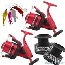 Sea Fishing Reel x2 with Line Spare Spool Beach Lineaeffe Ocean Master 70