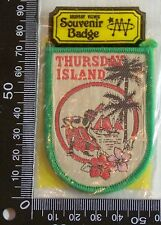 VINTAGE THURSDAY ISLAND EMBROIDERED SOUVENIR PATCH WOVEN CLOTH SEW-ON BADGE