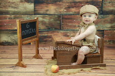 School Desk & Chalkboard  photography baby vintage prop hand made Red or Brown