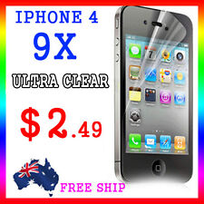 9x LCD HQ Ultra Clear Screen Film Display Protector Apple Guard iphone4G 4S 4