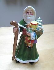 Lefton Old World Santa with Christmas Tree and Toys Dated 1995 HTF