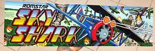 Romstar Sky Shark 1987 Video Arcade Game Marquee Sign Only One on Ebay