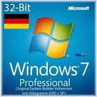 Microsoft Windows 7 Professional Vollversion SB 32-Bit + SP1 Deutsch OVP NEU