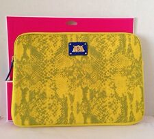 """NEW Juicy Couture Neoprene Yellow Python Snake Print Laptop Sleeve Case Bag 13"""""""