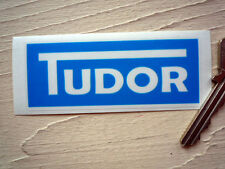 TUDOR Windscreen Washer Bottle STICKER Classic Car Blue Jaguar Screen Wash MG