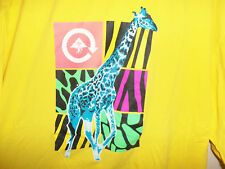 L-R-G Lifted Research Group LRG Pop Off TShirt 3XL Neon Yellow Art 80s OBEY DGK