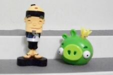 FRUIT NINJA & ANGRY BIRD CROWNED PIG LOT OF 2 FIGURES APP TOYS CAKE TOPPERS NEW