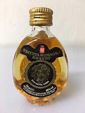 Mignon Miniature Buton Vecchia Romagna Etichetta Nera 3cl 40% Vol