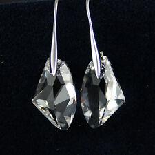 Boda nupcial swarovskielement Cristal Claro Blanco Plata 925 Colgantes Pendientes