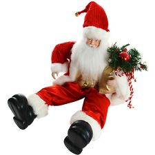 "20"" (50cm) Gorgeous Festive Sitting Santa Christmas Decoration With Red Outfit"