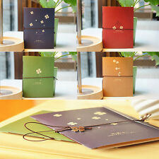"Nice ""Four Leaf Clover""  cardboard Cover Diary Exercise Book Pocket Notebook"