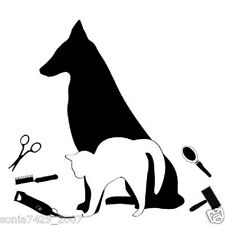 DOG GROOMER Grooming Puppy Cat Car Window Sign Decal Sticker WHITE BLACK PINK